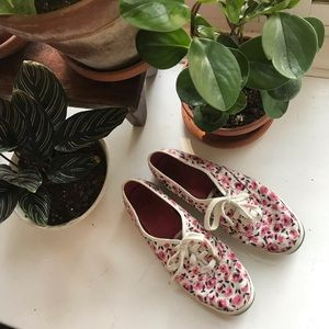 ♠️ Kate Spade x Keds rose floral sneakers